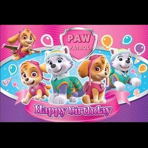 Party Supplies - Pawpatrol backdrop 5x3ft